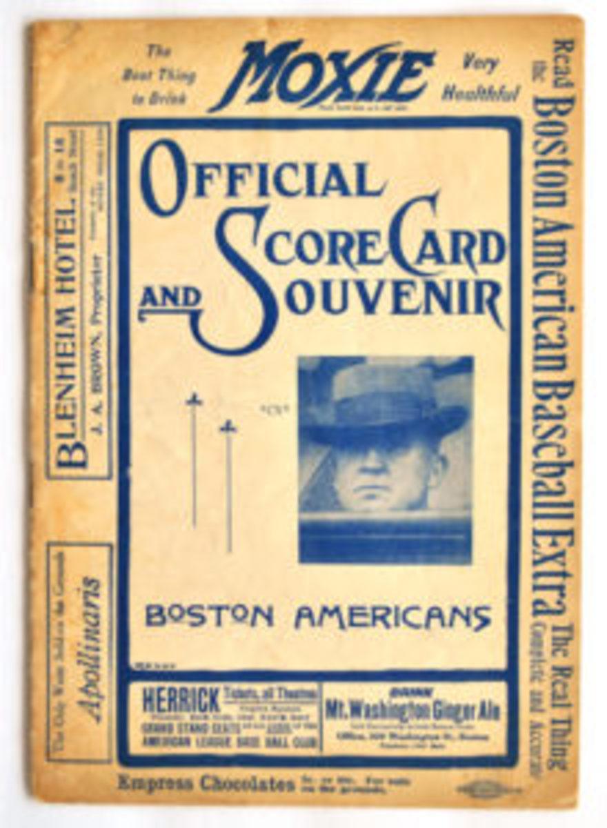 1908 Boston Americans Program