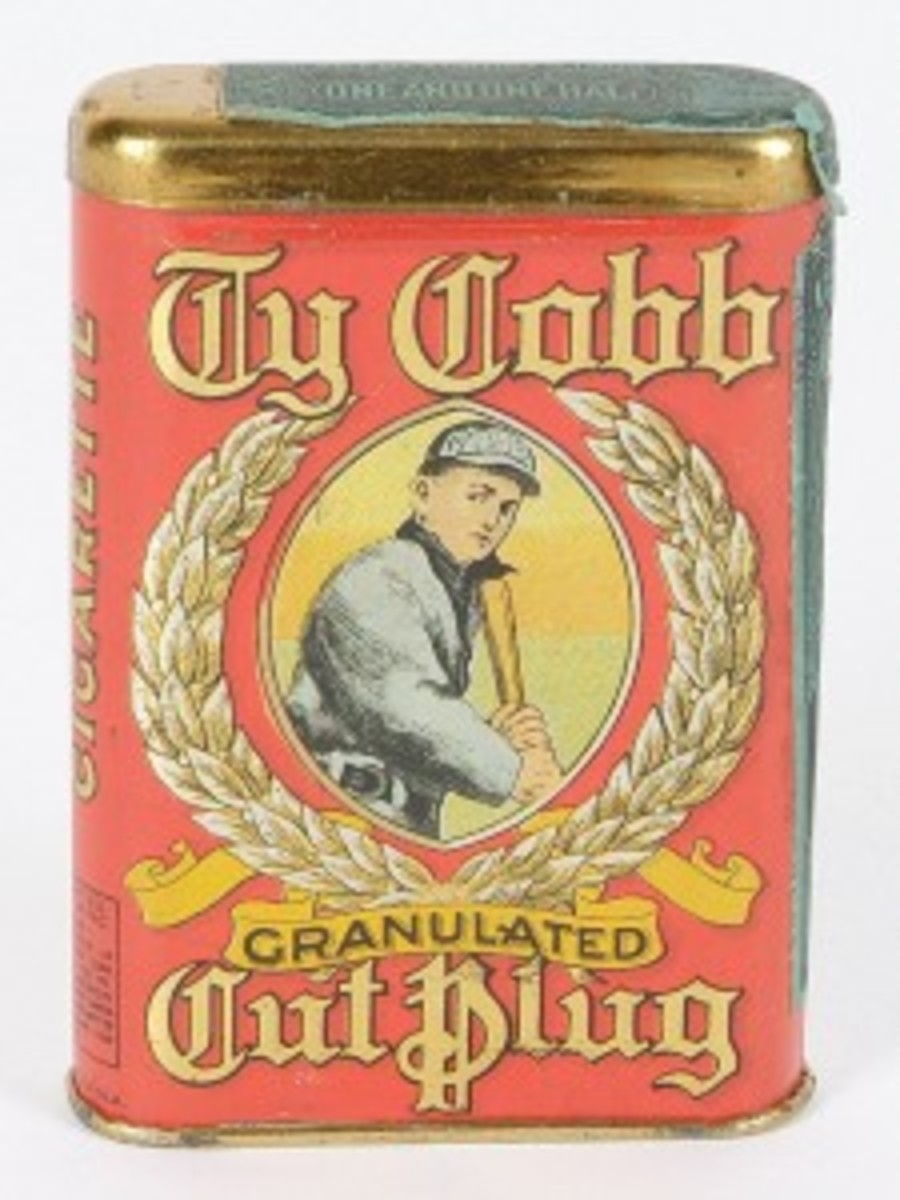 1912 Ty Cobb Tobacco Tin - MINT CONDITION! (res. $40,000; est. open).