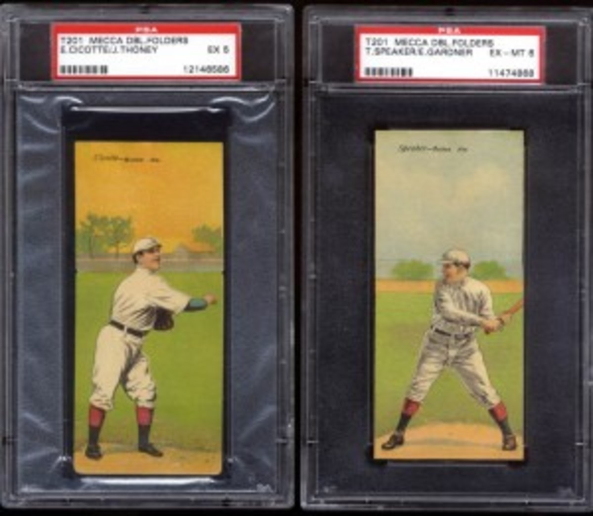 Two other popular cards from the set include Eddie Cicotte (Black Sox fame) and Hall of Famer Tris Speaker.
