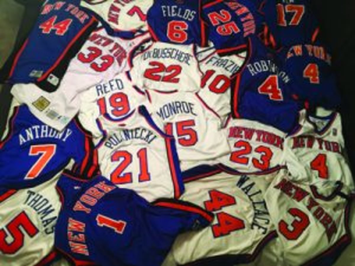 Knicks jersey collection