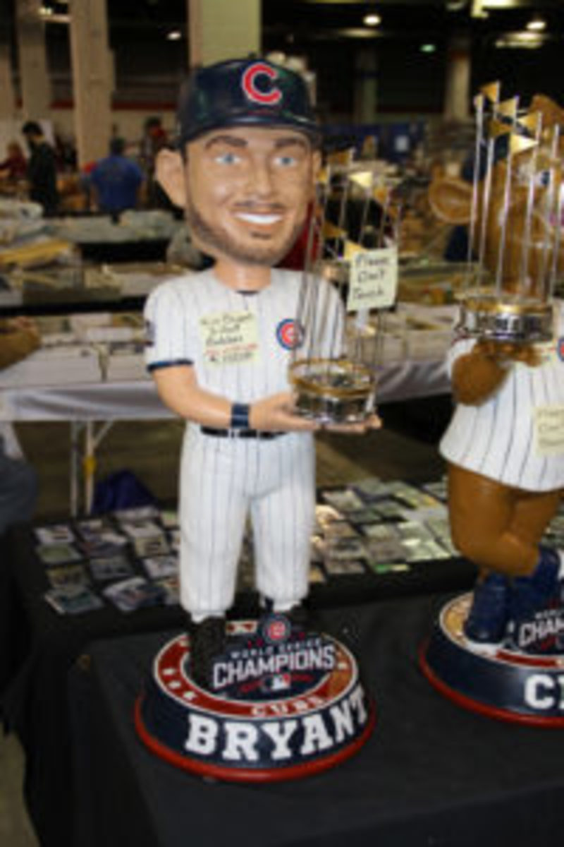 """For """"only"""" $1,100 a collector could own their very own 3-foot-tall Kris Bryant bobble head."""