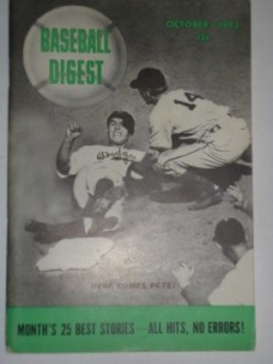 October 1942: Second issue of Baseball Digest with a 15-cent cover price.