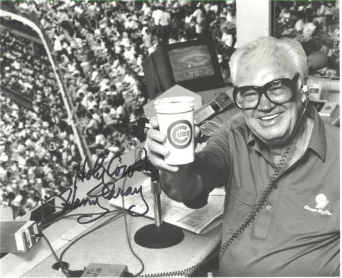 Sports announcers tend to be more favored by collectors than sportswriters. Among the favorites is Harry Caray, who won the Ford C. Frick Award in 1989.