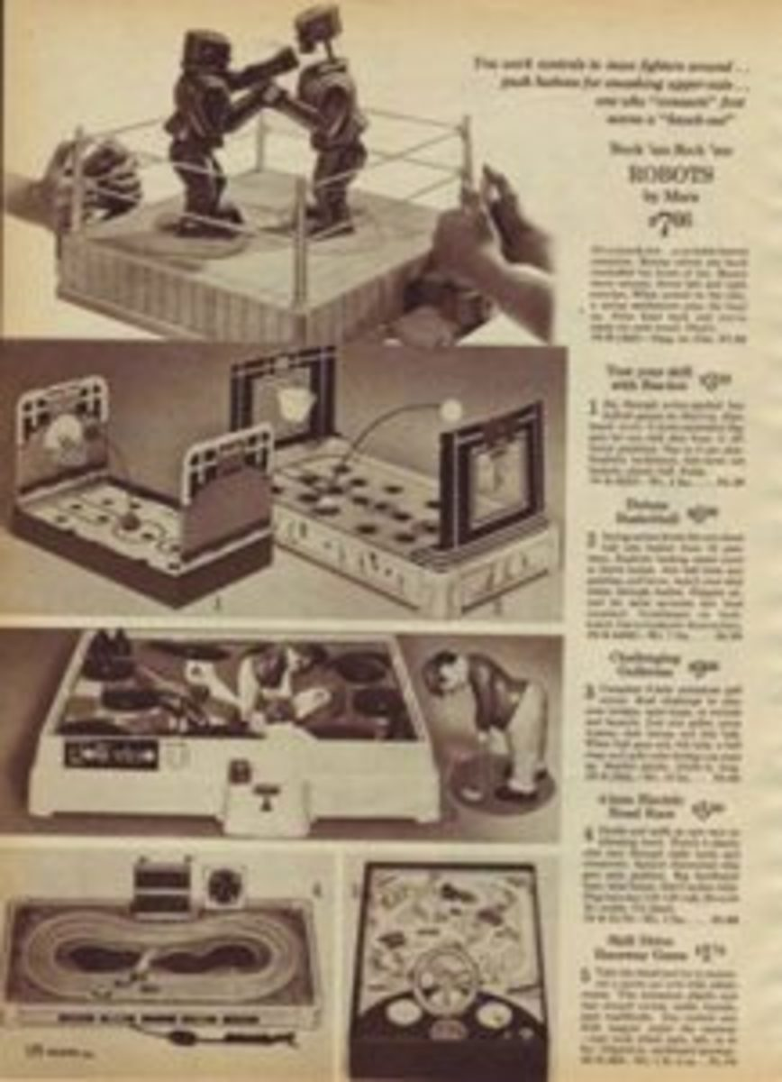 Rock'em Sock'em Robots were prominent in the 1964 Sears Catalog.