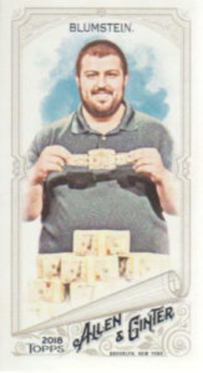 Scott Blumstein said one of the highlights of being in the 2018 Topps Allen & Ginter Baseball set is being included with some of his favorite baseball players like Derek Jeter.