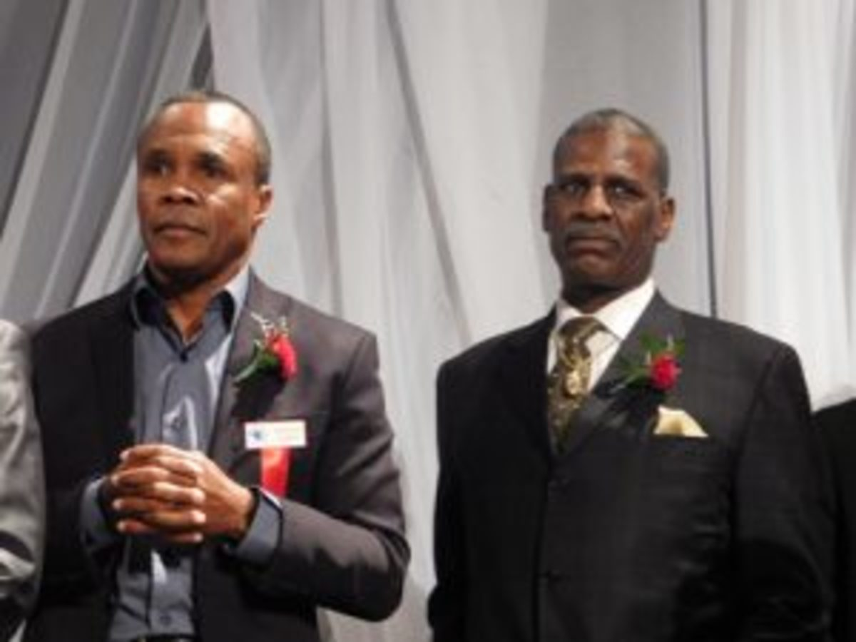 1976 United States Olympic Team and Hall of Famers Sugar Ray Leonard and Michael Spinks. (Robert Kunz photo)