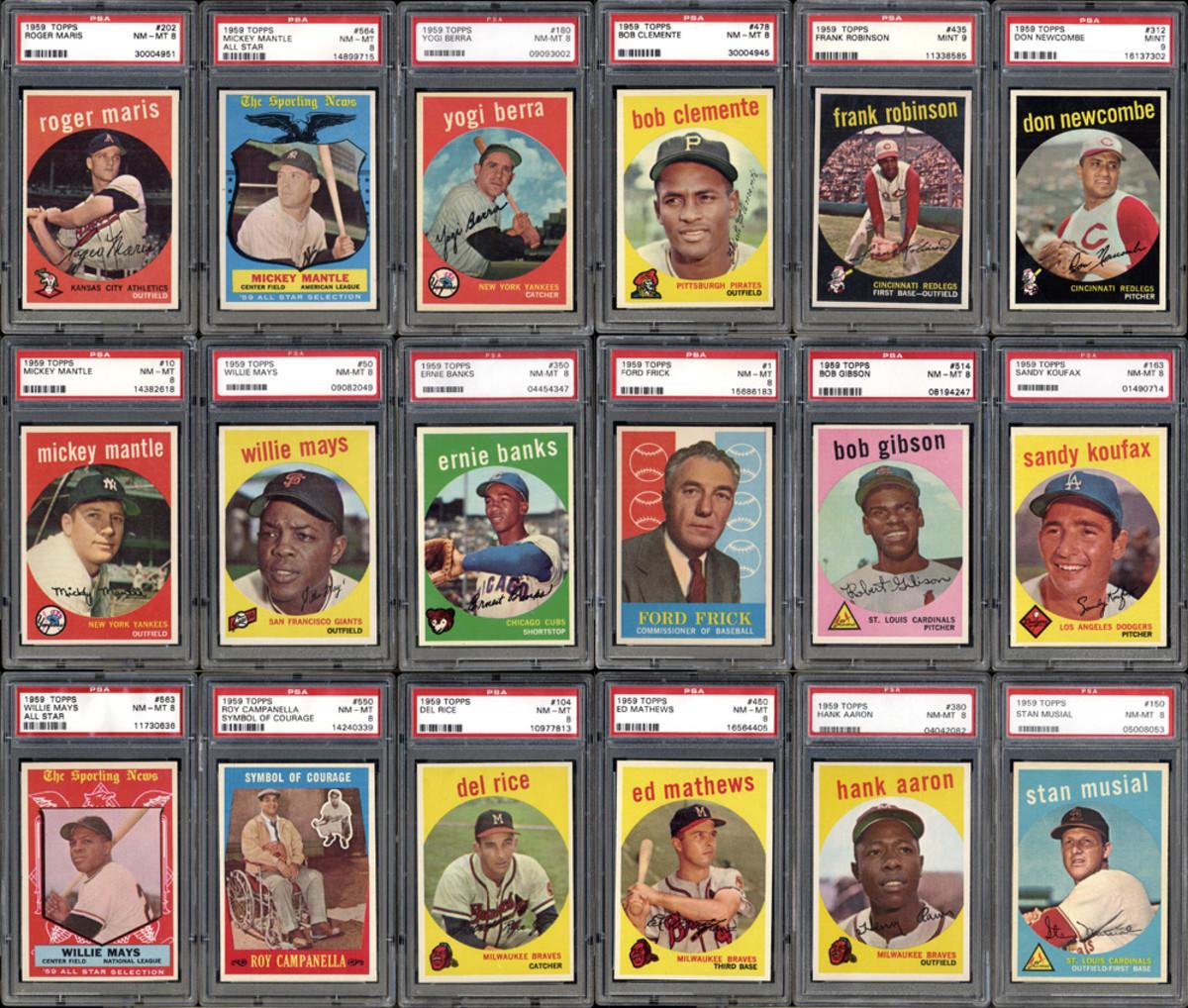 A 1959 set reached $42,939.