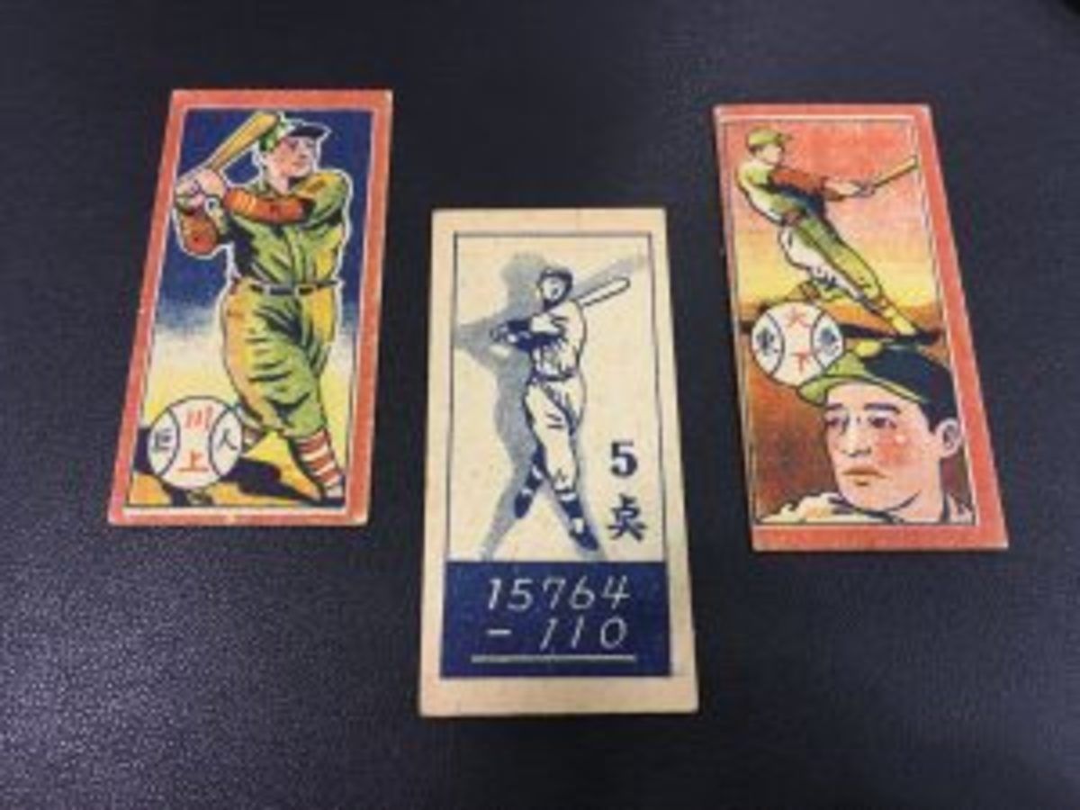 Ryan Lent from The Card Guys showed off a 1947 Menko Ted Williams set that featured a drawing of the slugger on the back.