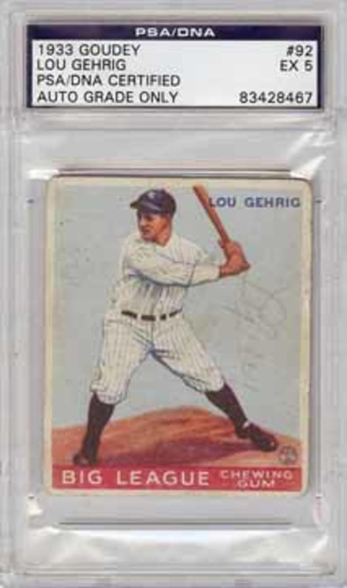 Gehrig card