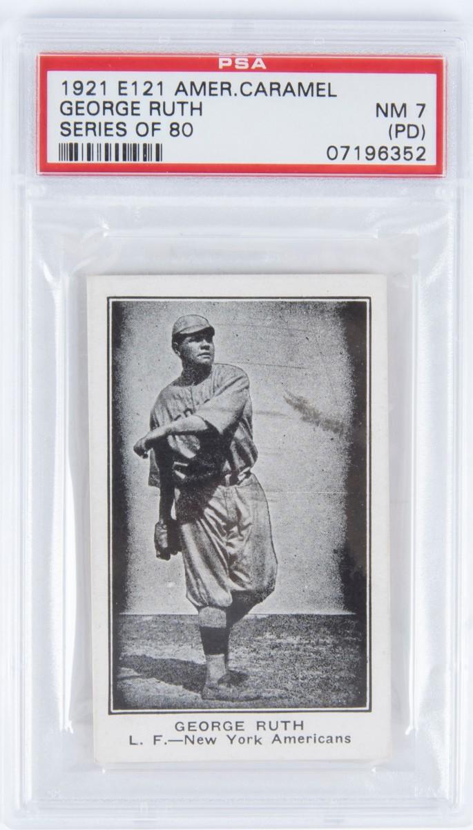 1  E121 1921 George Ruth PSA7