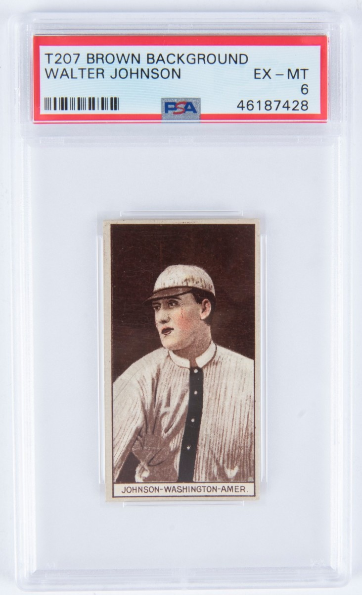 2 T207 1912 Walter Johnson PSA 6