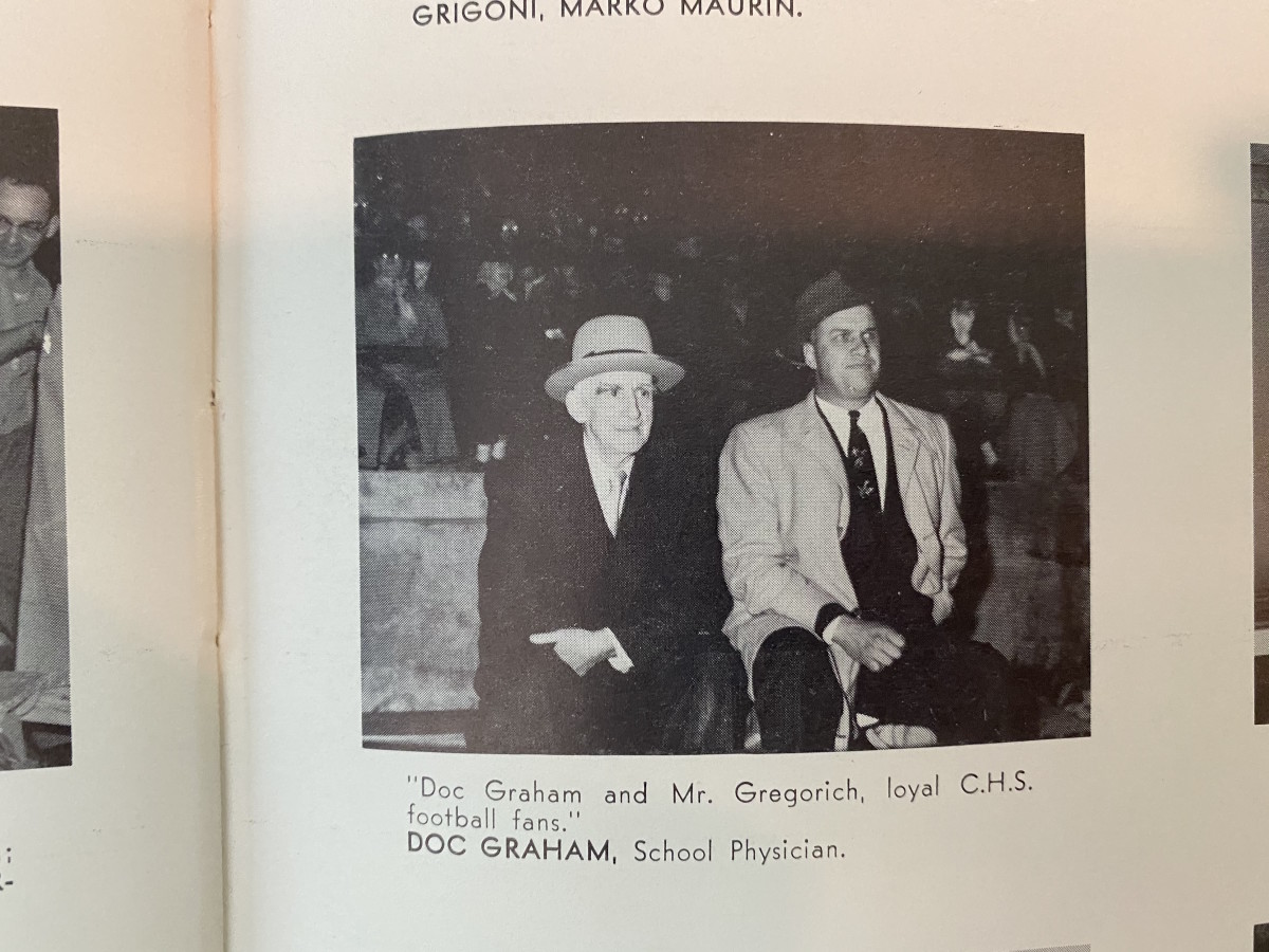 Dr. Graham's photo in the yearbook.