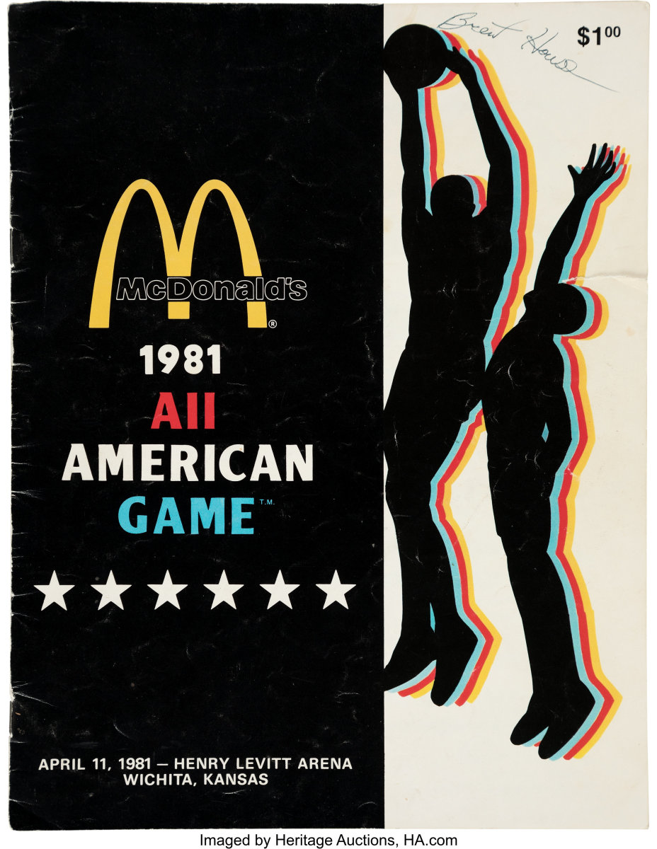 1981_McDonald's_All-American_High_School_Basketball_Program_Signed_Michael_Jordan_Ticket_Heritage_Auctions