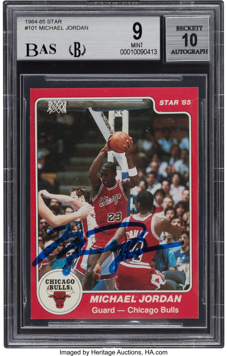 1984-85_Star_Co._Michael_Jordan_Rookie_101_BGS_Mint_9_BAS_Auto_10_Heritage_Auctions
