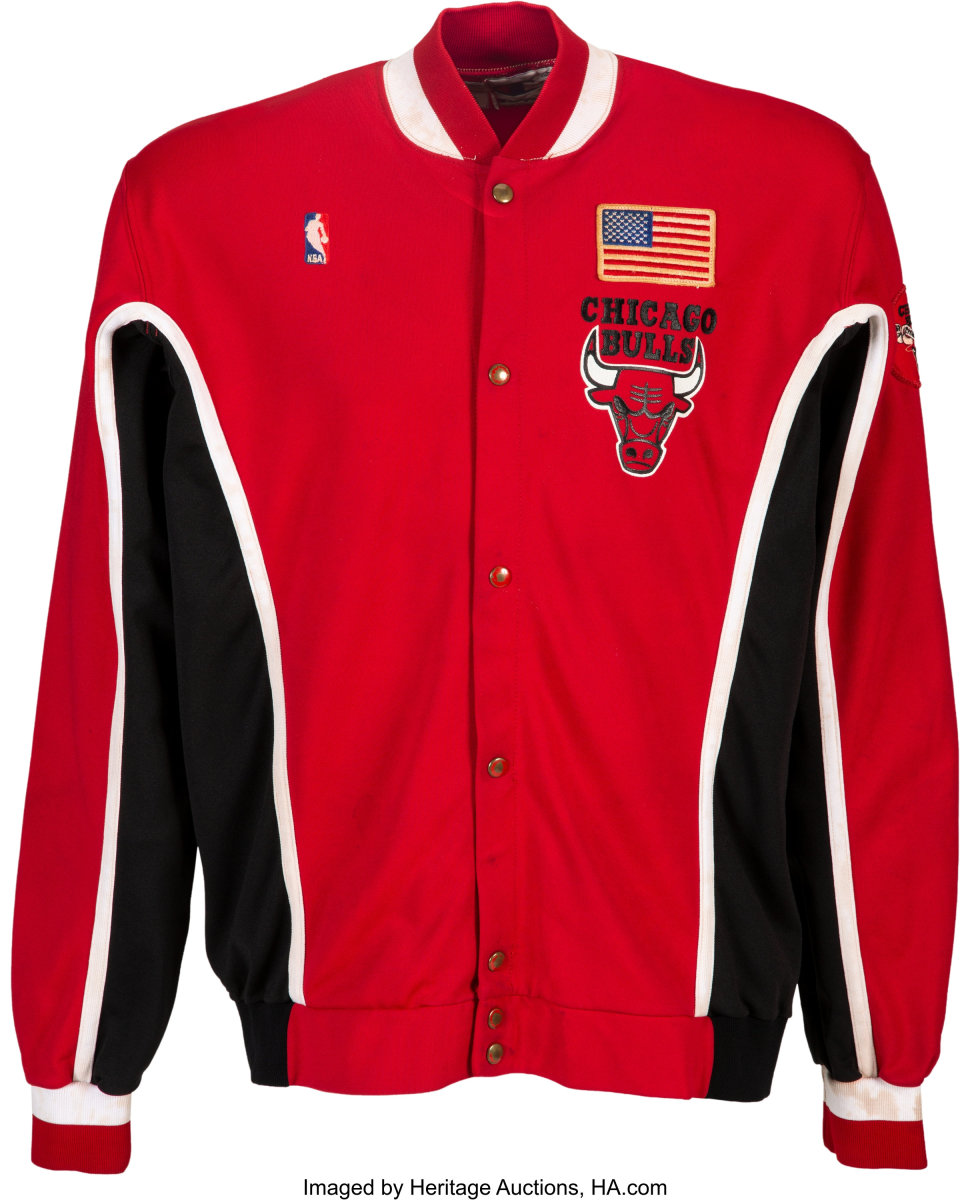 1991_Michael_Jordan_NBA_Finals-Clinching_Game-Worn_Chicago_Bulls_Warm-Up_Uniform_Heritage_Auctions