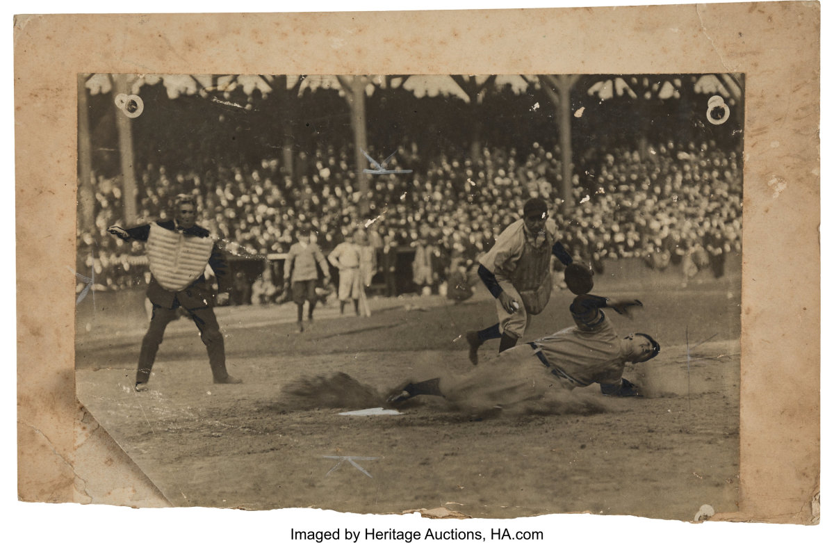 1908 Ty Cobb Oversized World Series Action Mounted Original Photograph_Heritage_Auctions