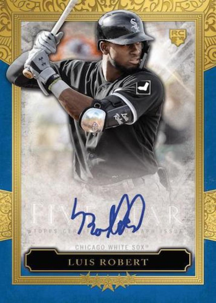 2ToppsFiveStar-Baseball-Cards-Base-Autograph-Blue-Luis-Robert-RC