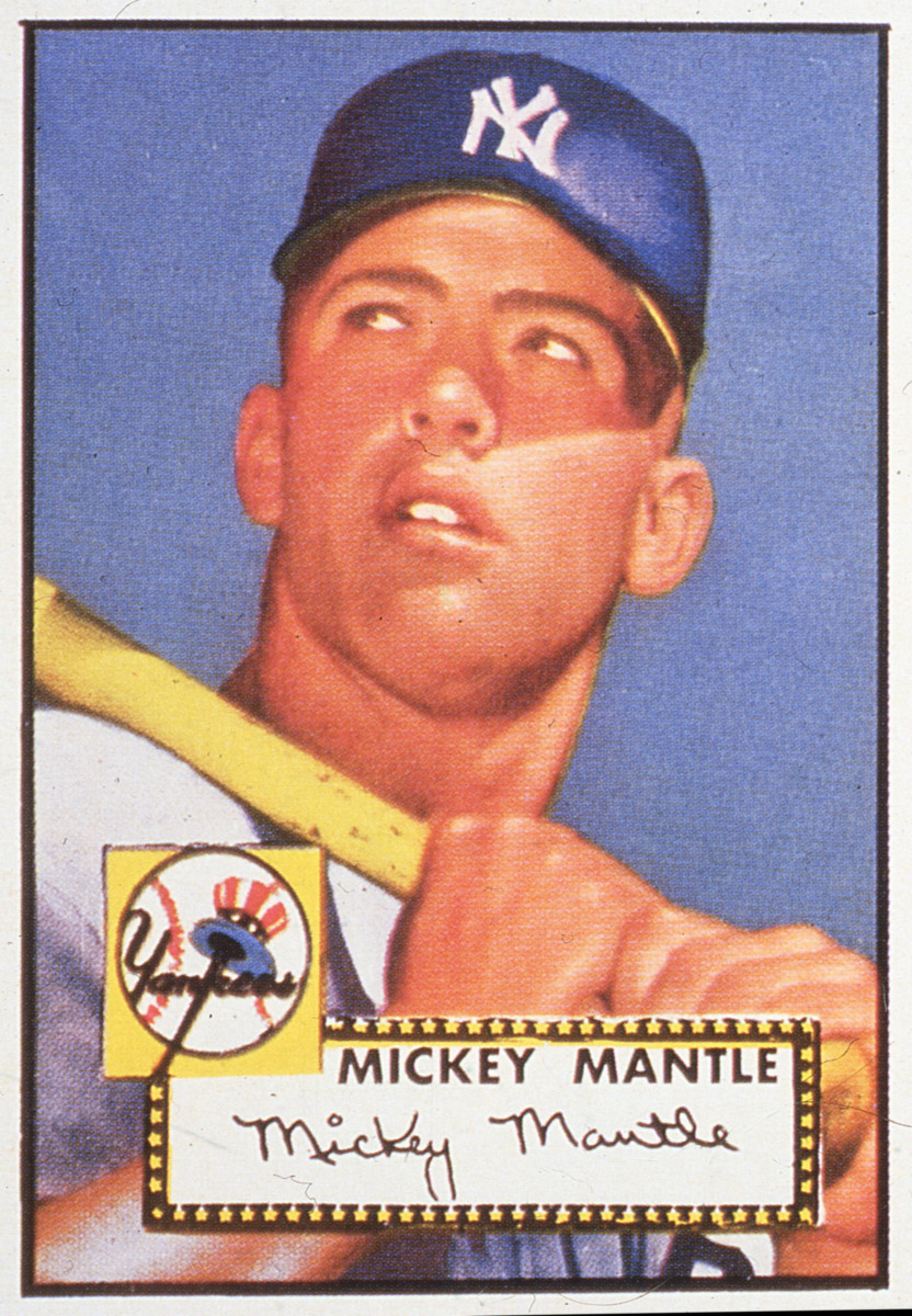 1952 Topps Mickey Mantle rookie card. Photo: Transcendental Graphics/Getty Images