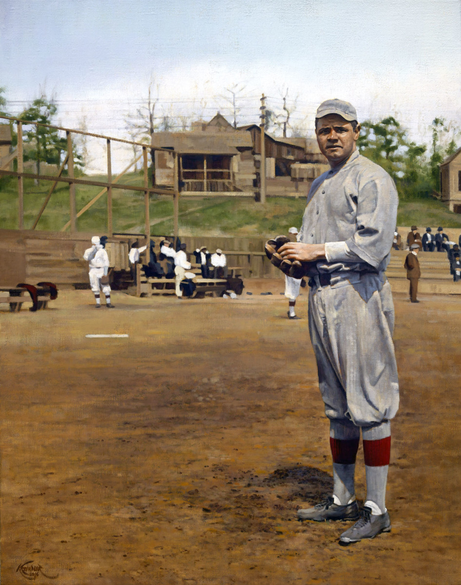 Babe Ruth at spring training, 1915