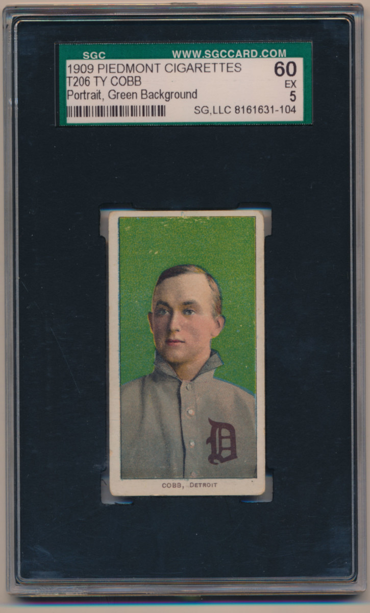 T206 Ty Cobb green background SGC 5