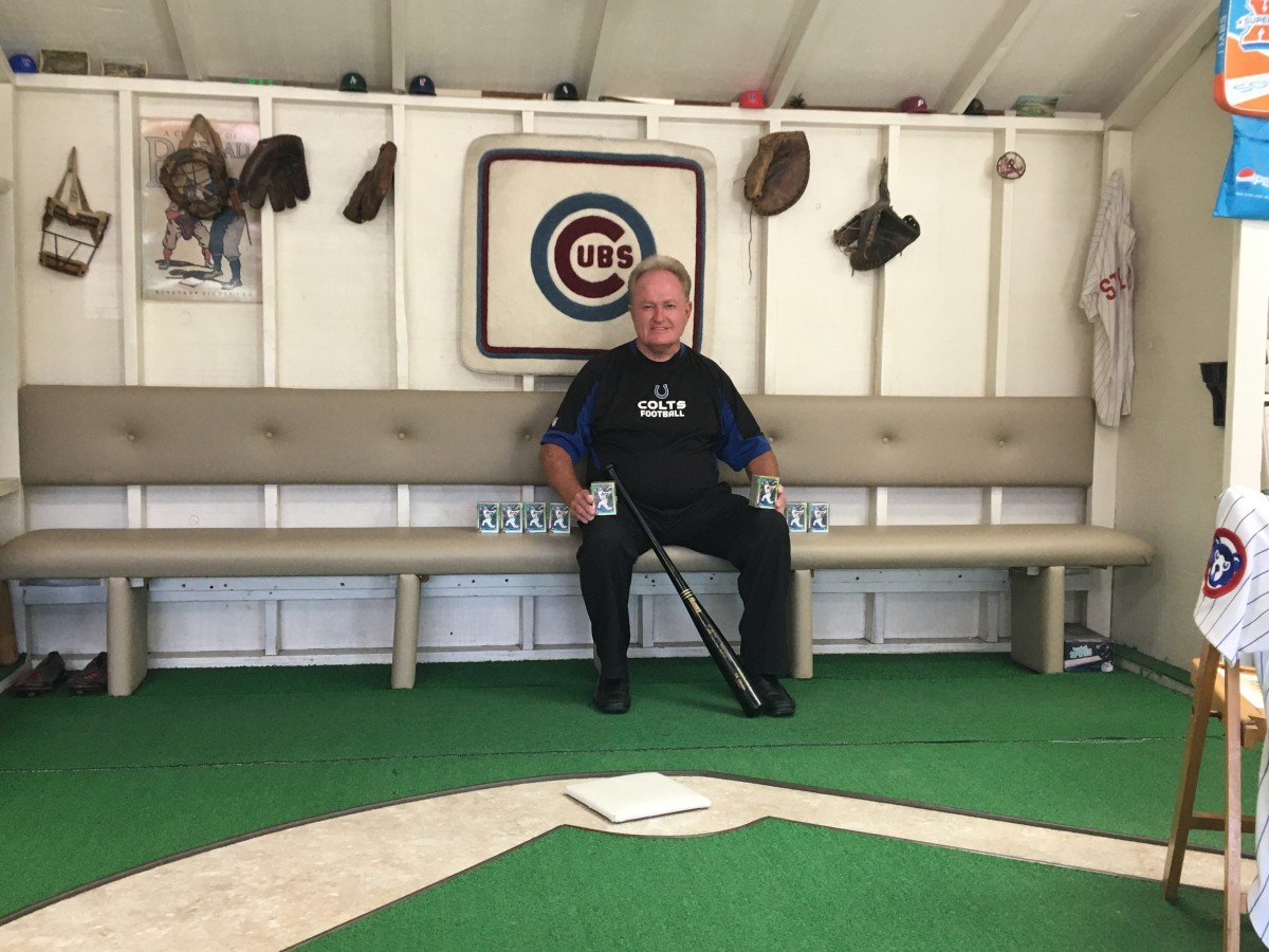 Doug Shaffer has a baseball themed barbershop, along with a lot of Sammy Sosa cards