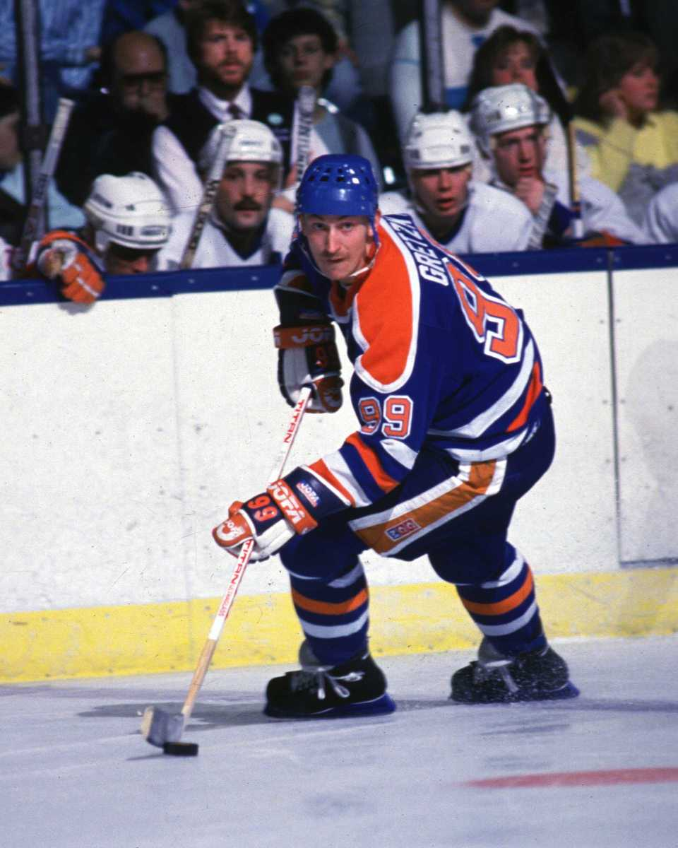 Wayne Gretzky, Oilers, undrafted; he had signed a personal services contract with Edmonton before the team joined the NHL. Photo: Bruce Bennett Studios via Getty Images Studios/Getty Images