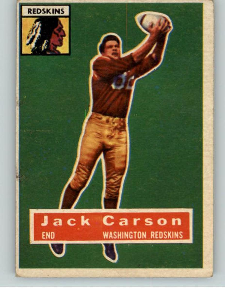 1956 TOPPS FOOTBALL #001 JACK CARSON WASHINGTON from Kit Young Cards