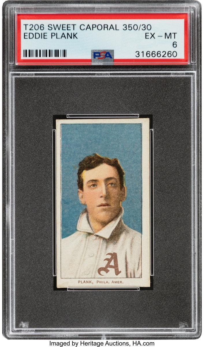 1909-11_T206_Sweet_Caporal_350_30_Eddie_Plank_PSA_EX-MT_6_Heritage_Auctions