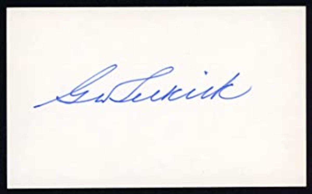 Autograph of George Selkirk on index card. Photo: eBay