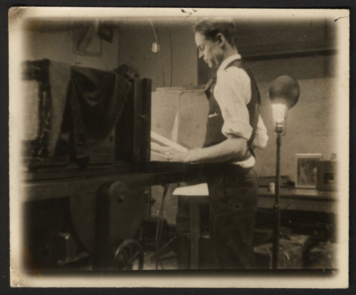 These are historical photos of Brown Brothers photographers and archivists at work, circa early 20th Century.