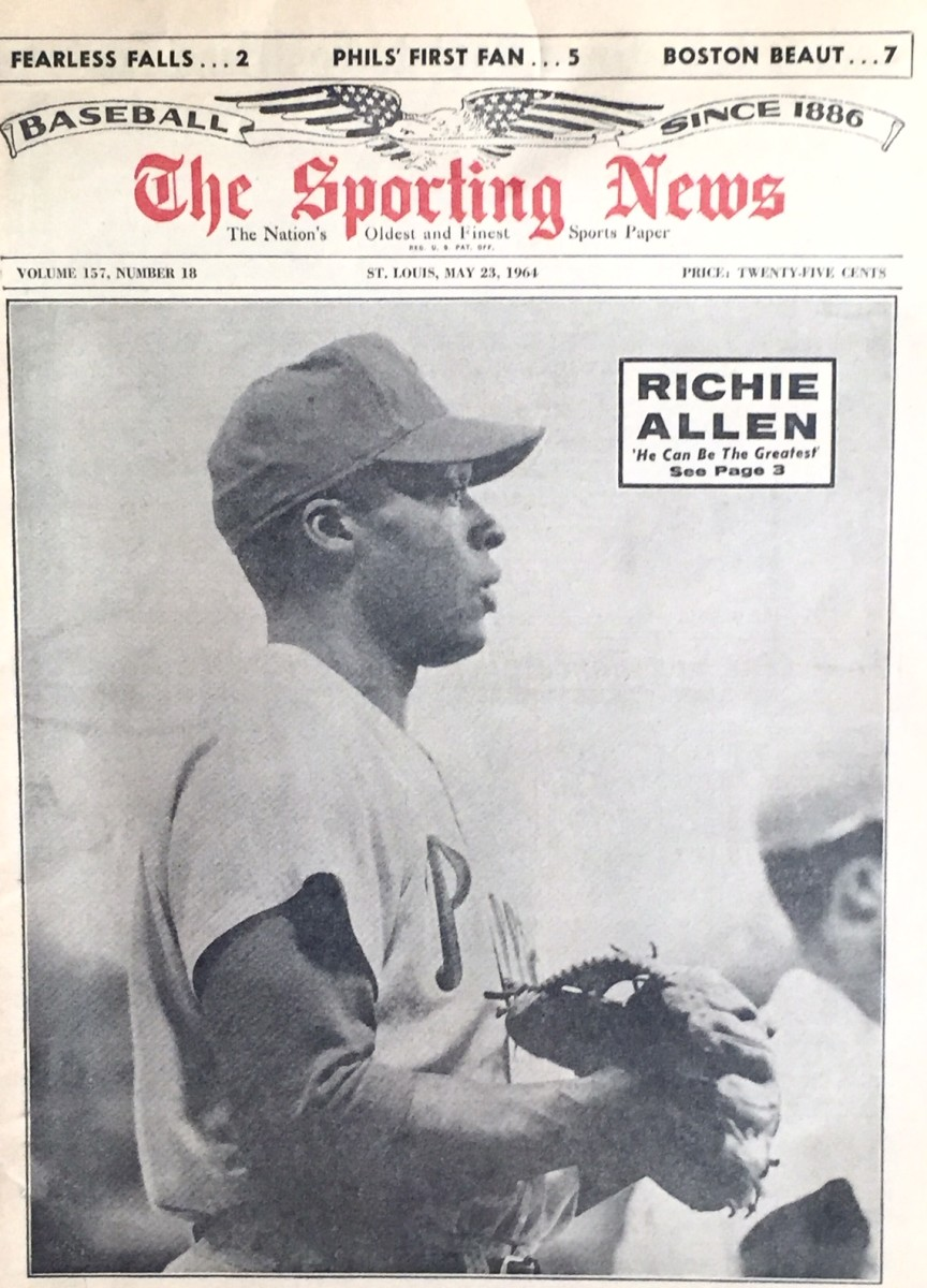 Allen graces the cover of the Sporting News on 5/23/64