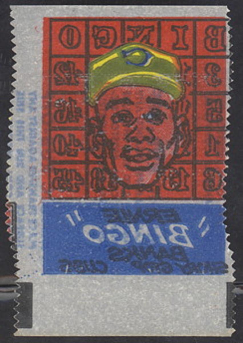 "1961 Ernie ""Bingo"" Banks. Photo: Dave's Vintage Baseball Cards"