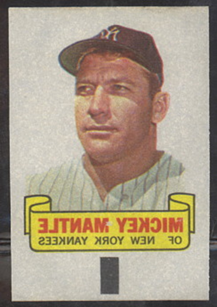 1966 Mickey Mantle. Photo: Dave's Vintage Baseball Cards