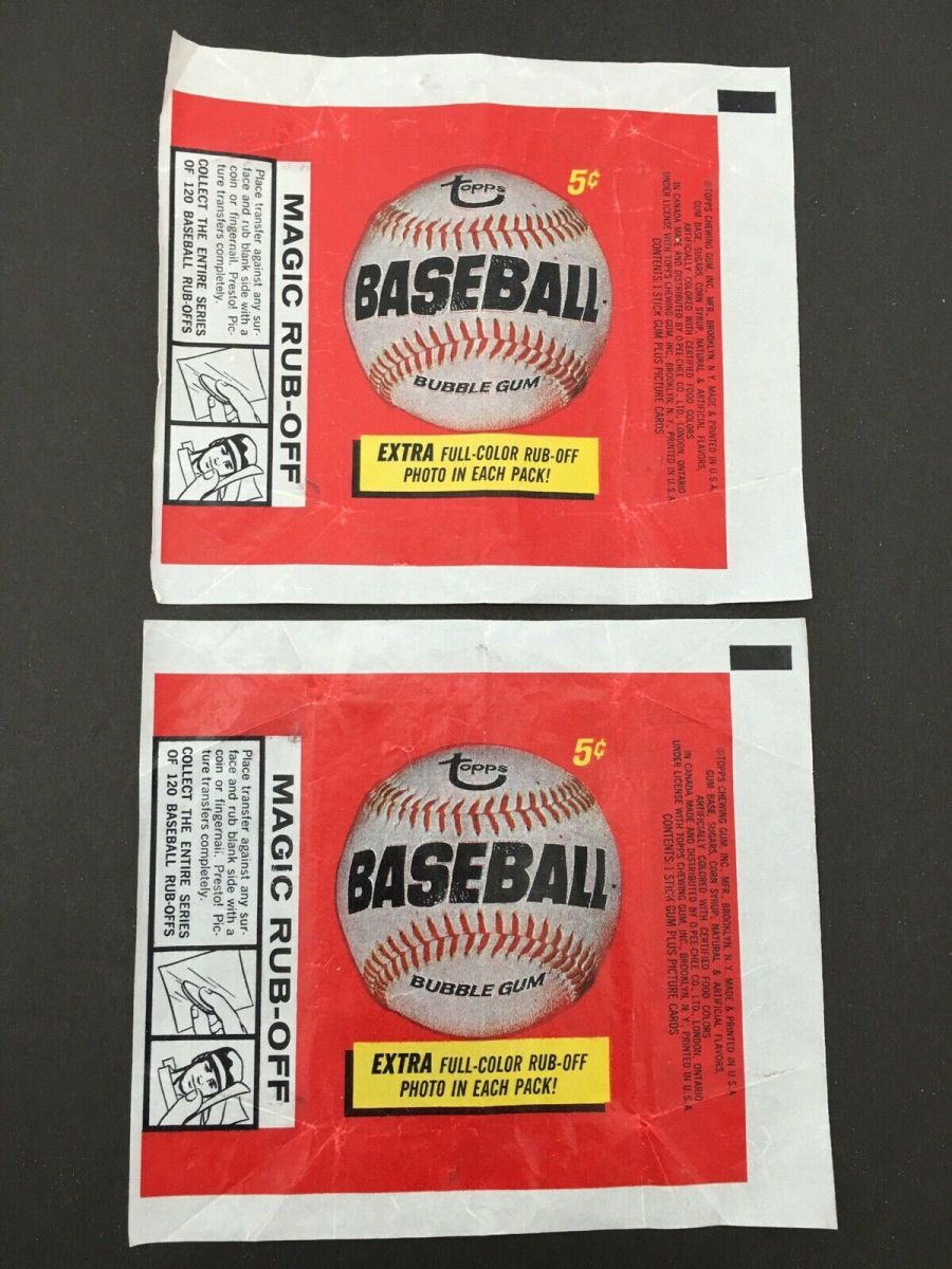 1966 wrappers. Photo: Dave's Vintage Baseball Cards