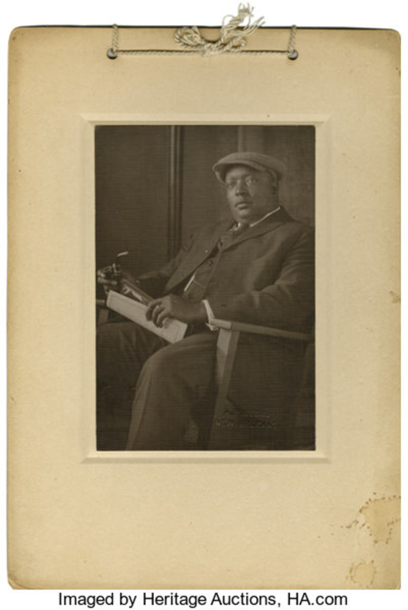 """Circa 1920 Andrew """"Rube"""" Foster cabinet photograph. Photo: Heritage Auctions"""