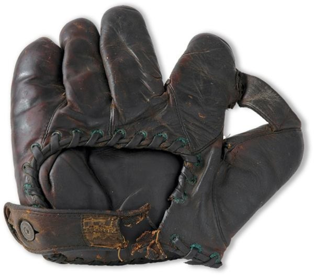 Unassisted triple-play glove of Bill Wambaganss. Photo: Lelands