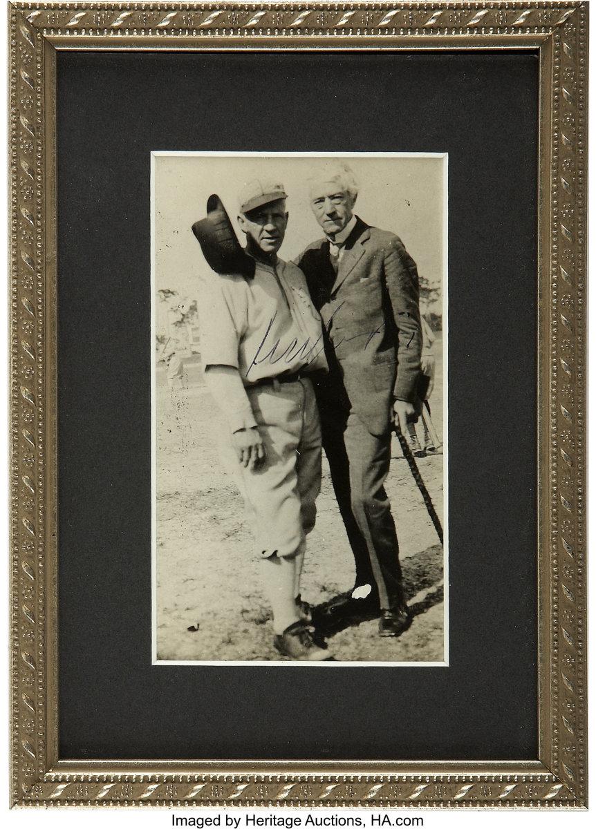Signed photo of Judge Kenesaw Landis. Photo: Heritage Auctions