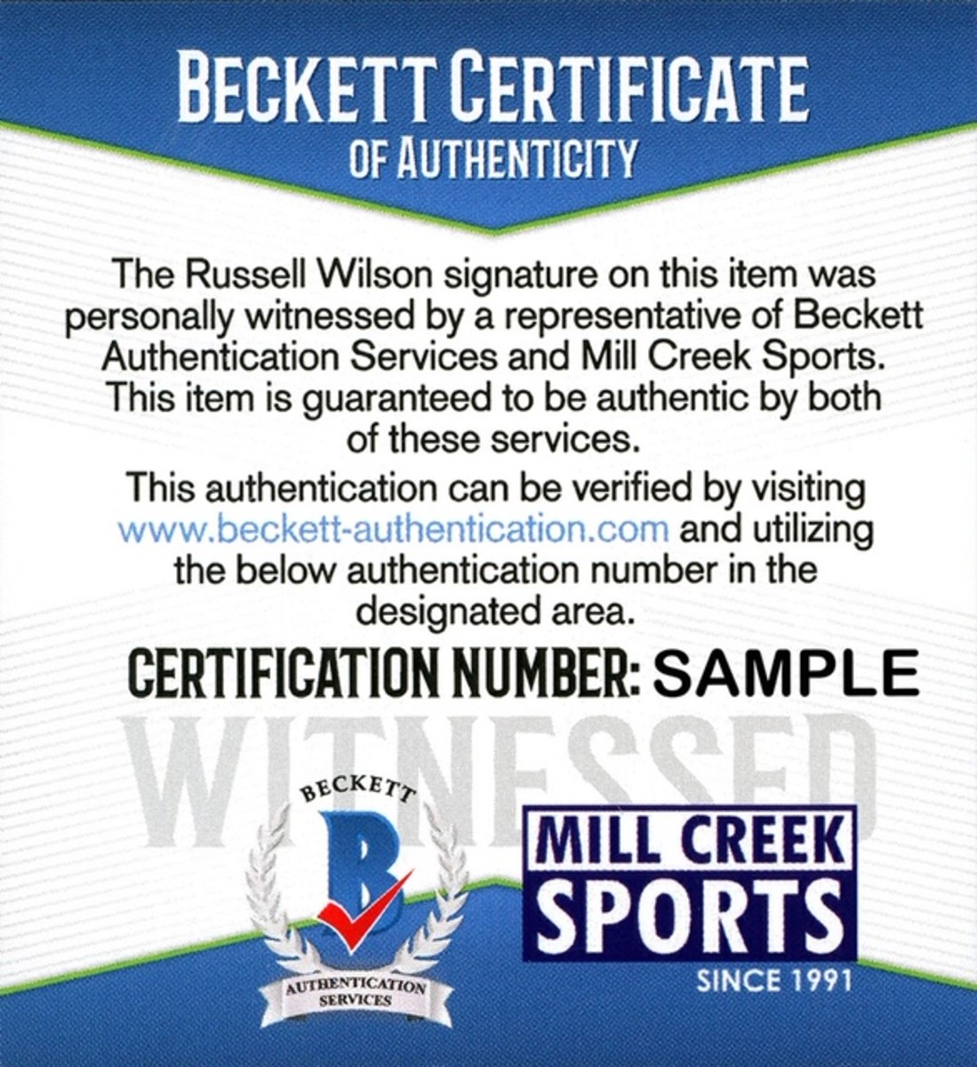 9. Mill Creek Sports and BAS agreement