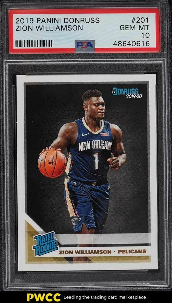 Zion Williamson and Ja Morant cards became popular on eBay in 2020. Here are their 2019 Panini Donruss GEM MT 10 cards.
