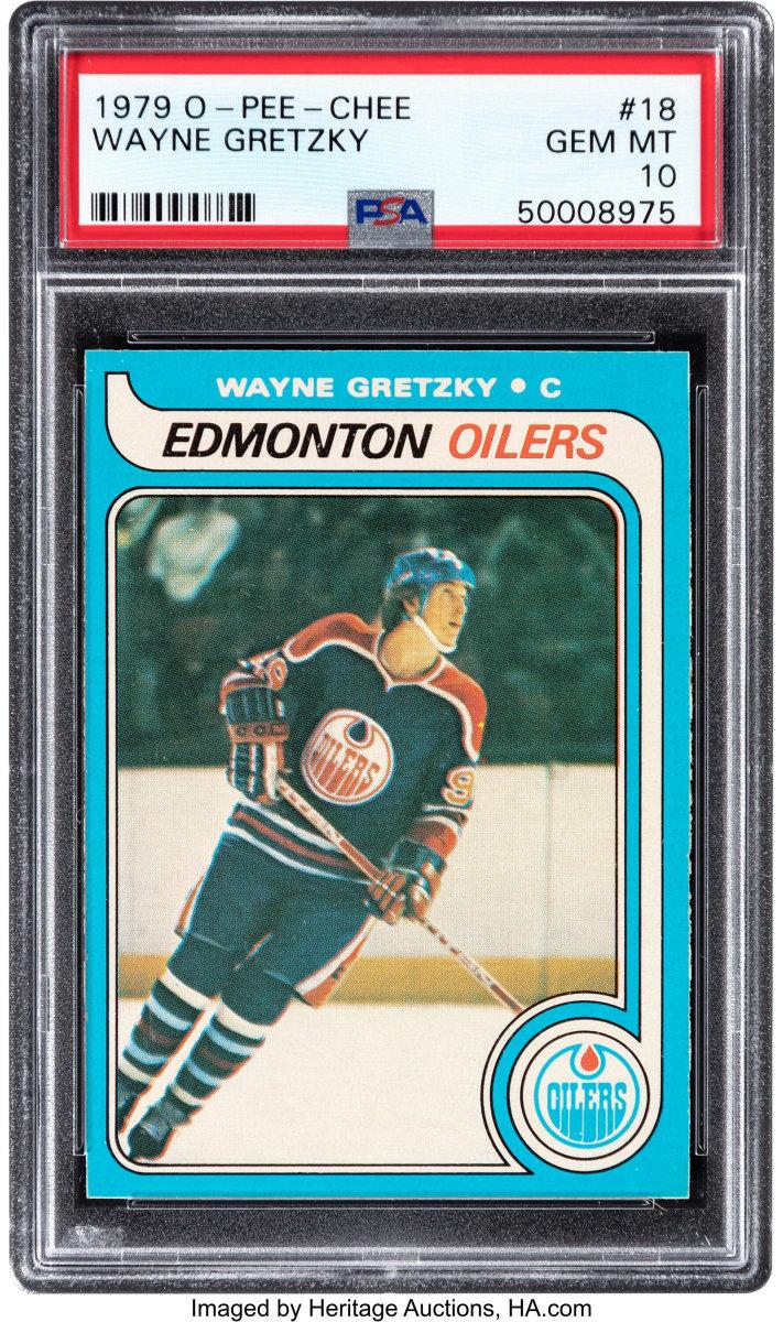 1979 O-Pee-Chee Wayne Gretzky rookie card.