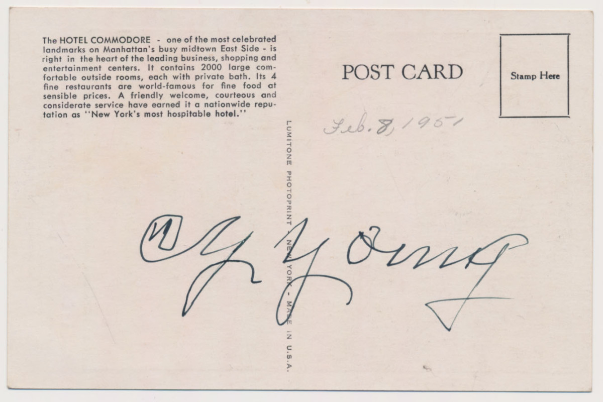 cy young auto