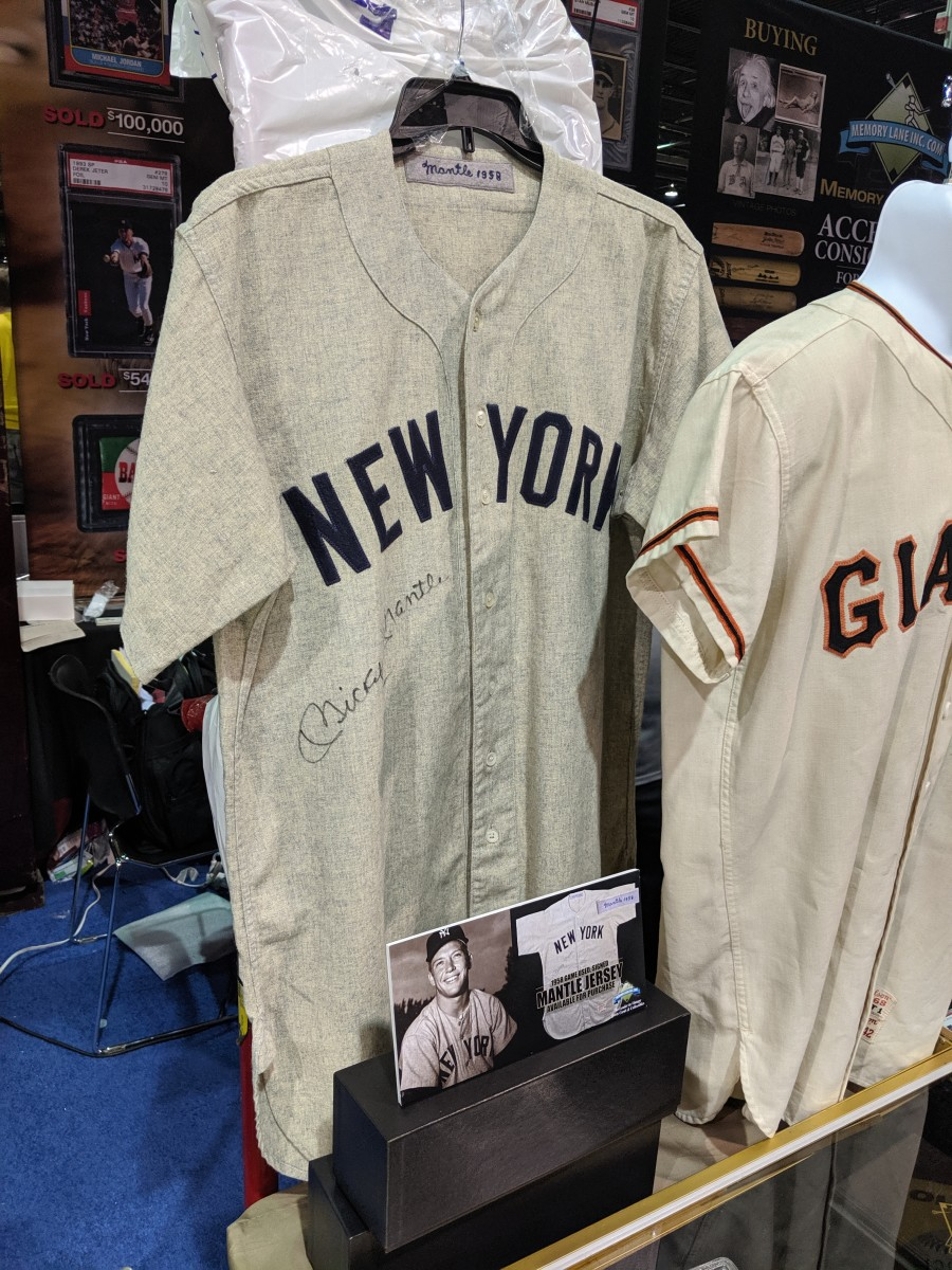 An autographed Mickey Mantle jersey is certainly a collectible worth insuring. Photo: MiniCo Insurance Agency