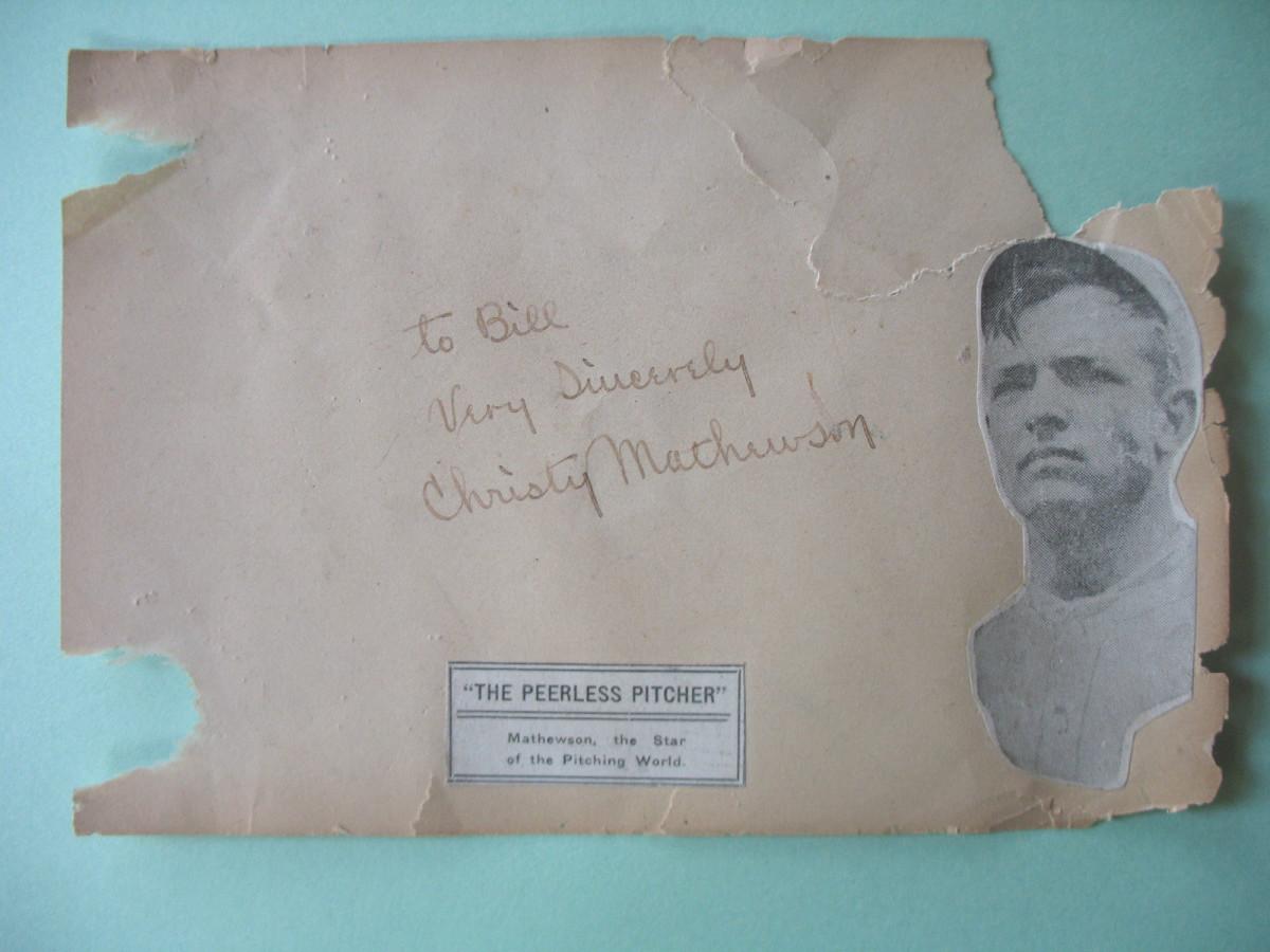 14. Forged Christy Mathewson