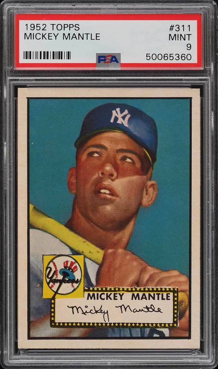 2 1952 Topps Mantle PSA 9 Front