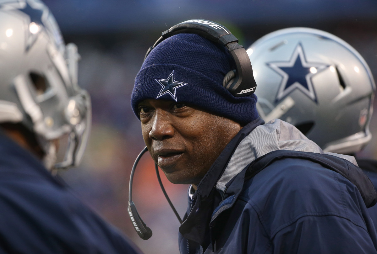Leon Lett is now an assistant defensive line coach for the Dallas Cowboys. Photo: Tom Szczerbowski/Getty Images