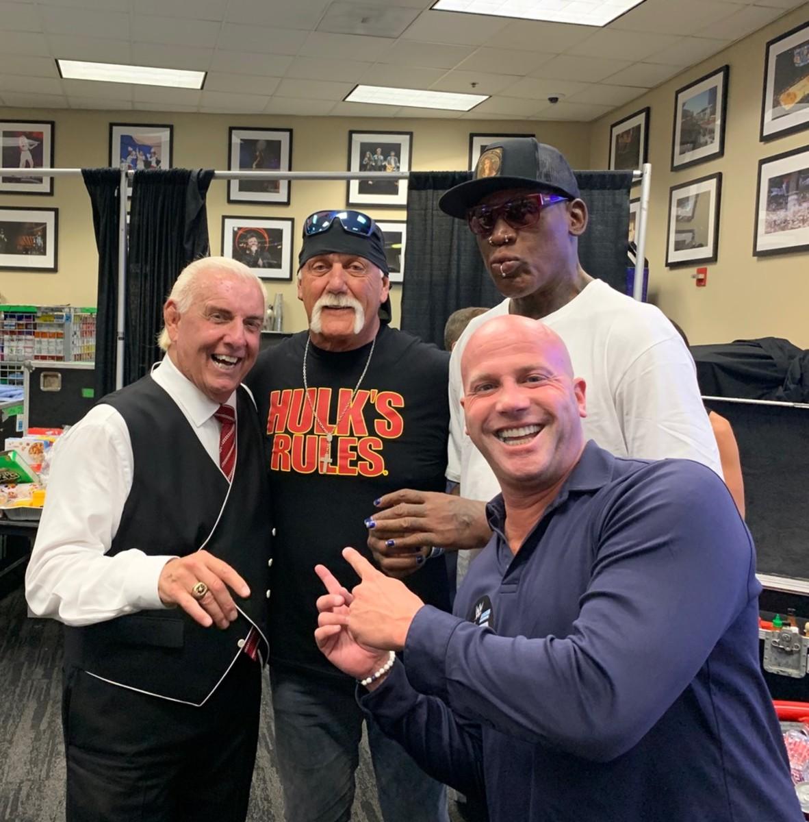 Prince represents Ric Flair, Hulk Hogan and Dennis Rodman at the 2019 National.