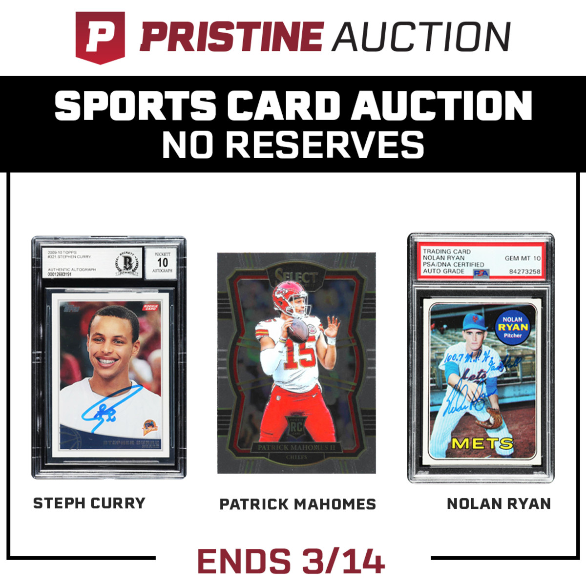 Sports Card Auction No Reserves-Ends March 14th.