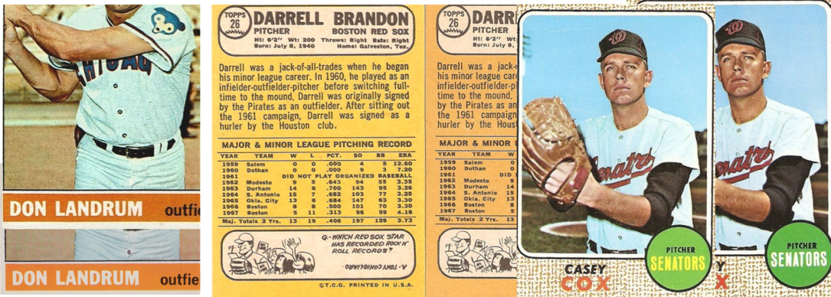 9 1966 Landrum and 1968 Milton Bradley