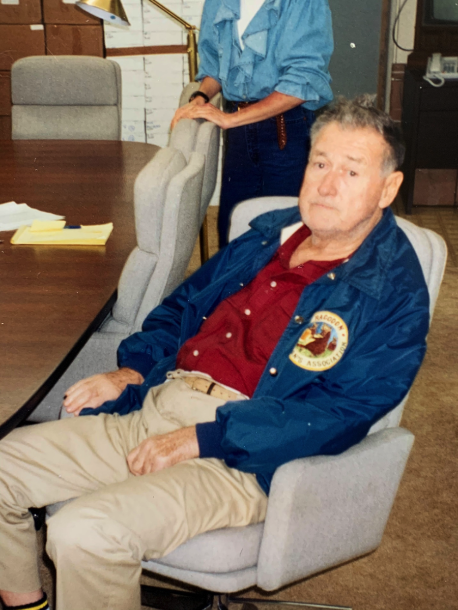 Fiorentino snapped this photo of Ted Williams during one of their visits.