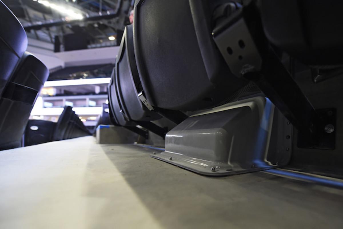 Wi-Fi antenna under seats.